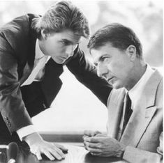 Rain man (1988) - Selfish yuppie Charlie Babbitt's father left a fortune to his savant brother Raymond and a pittance to Charlie; they travel cross-country.