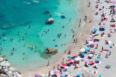 Capri Pastel Beach Umbrellas