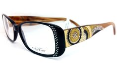 83c5859bc3 Caviar Eyeglasses M3004 C.24 Blk Brwn w Crystals 52mm Made in Italy