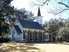 The Chapel at Palmetto Bluff in Bluffton, SC. I love the floor to ceiling windows.