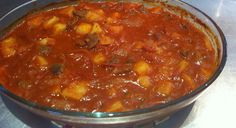 Quick dinner using chopped steak, onion, potatoes and tinned tomatoes. Quick, simple and nutritional. Tasty too!