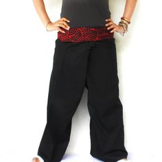 red and black swirl on  waist  with  black  by meatballtheory, $18.00