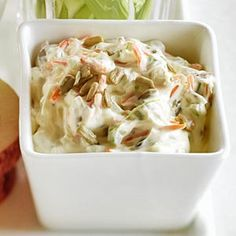 This cream cheese spread features celery, carrot, and sunflower seeds. Use it on crackers for a quick #appetizer or snack: http://www.recipe.com/crunchy-veggie-spread/?socsrc=recpinn092412crunchyveggiespread