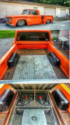 cool #bedfloor idea for #slammed #pickup #truck #dodge