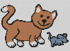 Cat and Mouse Cross Stitch Pattern | Craftsy