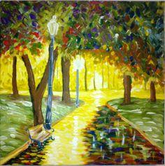 paisagem impressionista-pintura da Cecília...releitura.