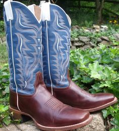 Cowboy boots CODY JAMES beautiful blue by OutOfMyMamasAttic, $89.99