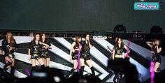 "[120922] Girls' Generation performing ""Mr. Taxi"" on SM Town Jakarta. #SNSD #GirlsGeneration #HyoYeon #Tiffany #Seohyun #Taeyeon"