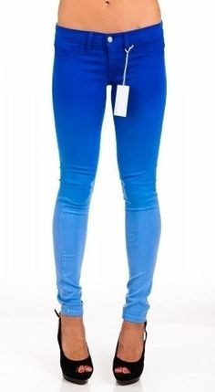 d16ab0f643953 Flying Monkey Jeans L7522 Skinny Dip Dye Blue Ombre NWT NEW Womens  #FlyingMonkeyJeans #SlimSkinny