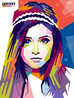 Chrissy Costanza Vocalist of Againts The Current In Wedha's Popart Portrait by Wir  #wpap #popart #portrait #vector #vectorart #graphic #design #draw #trace #illustration #artwork    If u feel interest and want to order popart, just contact me on  wir_artwork@yahoo.com