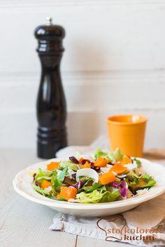 sto kolorów kuchni: Sałatka dyniowa z kozim serem