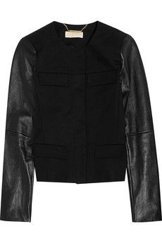 Designer Clothes, Shoes & Bags for Women Discount Designer Clothes, Cotton Jacket, Clothes For Sale, High Fashion, Black Leather, Leather Jacket, Michael Kors, Jackets, Shopping