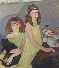 Jeunes filles en jaune, 1921, Elisabeth Chaplin. (1890 - 1982)
