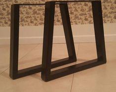 Pieds de table trapèze métal