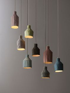 Lamps and Lighting– Home Decor : Paola Paronetto's Textured Ceramics Fuse Paper and Clay Interior Lighting, Lighting Design, Home Lighting, Raku Pottery, Metal Walls, Metal Wall Art, Light Fittings, Light Fixtures, Deco Luminaire