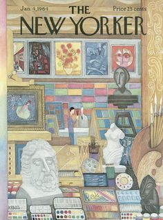 The New Yorker - Saturday, January 4, 1964 - Issue # 2029 - Vol. 39 - N° 46 - Cover by : Robert Kraus