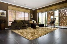 National Tiles Living Room Tiles - STRATOS NERO NATURAL (600x600)  MAXFL1035   Info: Floor Tiles  Grout: Light Grey