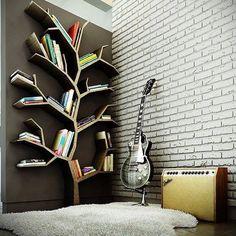 Muebles Bibliotecas en forma de árbol.