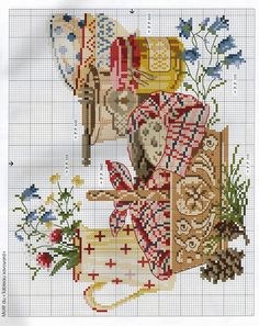 De fil en Aiguille HS 19 Alpin - Lita Zeta - Álbuns da web do Picasa Cross Stitch Fruit, Cross Stitch Kitchen, Cross Stitch Boards, Cross Stitch Needles, Cross Stitch Flowers, Counted Cross Stitch Patterns, Cross Stitch Designs, Cross Stitch Embroidery, Cross Stitch Pictures