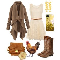 """""""Cute Country Fall Outfit"""" by natihasi on Polyvore"""