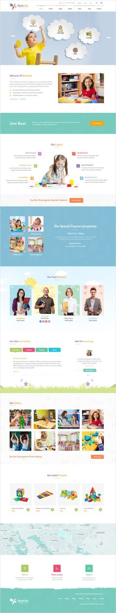 Nashville is a wonderful #PSD Template suitable for all types of #Kindergarten, #preschools or daycare center website with 3 unique homepage layouts and 15+ organized PSD pages Download Now➯ https://themeforest.net/item/nashville-kindergarten-psd-template/17263840?ref=Datasata