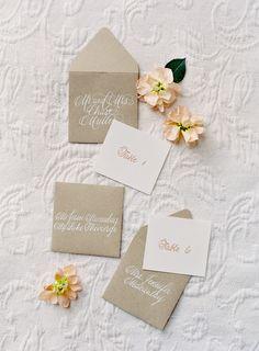 #calligraphy, #escort-cards Photography: Jose Villa Photography - josevillaphoto.com