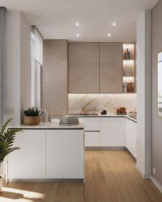 Kitchen Room Design, Home Room Design, Kitchen Cabinet Design, Modern Kitchen Design, Home Decor Kitchen, Interior Design Kitchen, Home Kitchens, Kitchen Ideas, Interior Modern