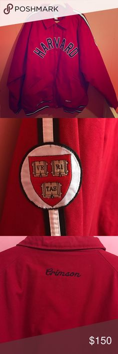 Harvard University Ivy League Men's Varsity Jacket Harvard University men's red varsity jacket. This is a really nice 100% cotton jacket. It is well made and in like new condition. Size 5X Stalls Dean Jackets & Coats Bomber & Varsity