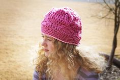 Cancer Ribbon Beanie Crochet Pattern