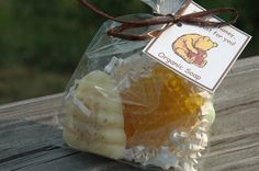 30 Classic Pooh or Bee Theme Shower Favors Organic Oatmeal Buttermilk and Honey Soap