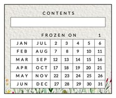 "Date your canned or frozen goods with this printable freezer label template. Design features a write-in ""content"" area and a place to choose a month and date. Spring flowers line the bottom. Designed by Lia Griffith."