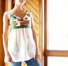 Shirt, dress tutorial and pattern.