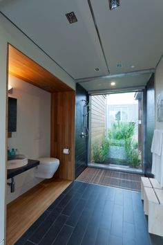 Solar decathlon bathroom with grey water recycling - beautiful in function and aesthetics University of Maryland