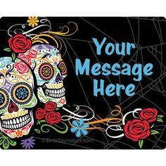Day of the Dead Personalized Address Labels (Sheet of 15)