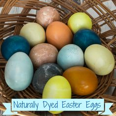 Dyeing Easter eggs with Natural dyes #easter #gogreen #eastereggs