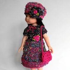 OUTFIT -Puppenkleidung-fuer-32-36cm Puppe- Set3tlg-NEU- Paola Reina Effner Minouche