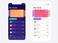 Visa Cards App on iPhone X