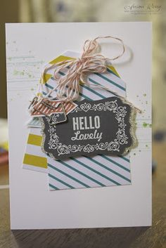 The tags from the Tag A Bag accessory kit are a quick way to add fun colors and patterns to a card.