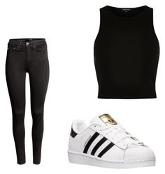 """""""Untitled #51"""" by amysonmaijah on Polyvore featuring River Island, H&M and adidas"""