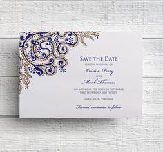New to EdenWeddingStudio on Etsy: Indian Wedding Save the Date - Sample (2.50 USD)