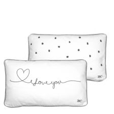 Cushion 30x50 White/Love you in Black
