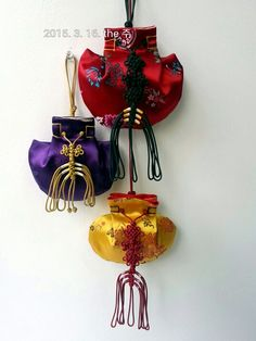 Korean Traditional Bags_복주머니 I wish everyone's happiness and good    health.