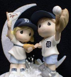 MI Detroit TIGERS Baseball FANS Wedding Cake Topper FUN soft ball Sports | eBay