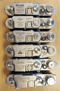Late model German and Japanese 'Barnack' cameras....