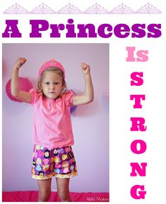 Shorts are Princess Fabric By Ann Kelle, attitude is all her own!