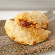Delicious Beef & Cheddar Empanadas wrapped in light flaky puff pastry.