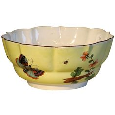 Meissen Yellow Ground 18th Century Bowl