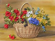 Pre-Cut Frames Silk Ribbon Embroidery Craft Kit By Bucilla Corp - Embroidery Design Guide Jacobean Embroidery, Silk Ribbon Embroidery, Embroidery Art, Embroidery Stitches, Embroidery Patterns, Flower Embroidery, Ribbon Art, Diy Ribbon, Ribbon Rose