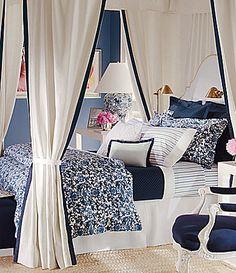 Ralph Lauren Dorsey Lotus Blossom Fretwork Sateen Comforter #Dillards