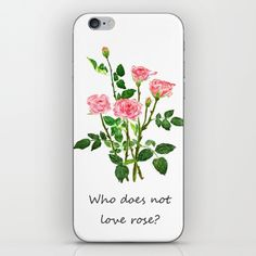 pink+rose+iPhone+&+iPod+Skin+by+Color+And+Color+-+$15.00